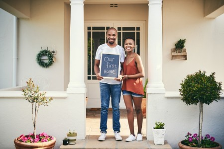 A young couple decided to buy a home after deciding they were ready.